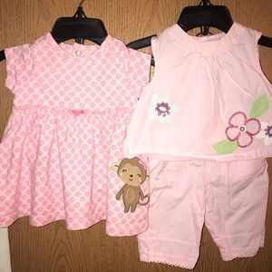 """2 Infant """"Pretty In Pink"""" 2 piece sets"""